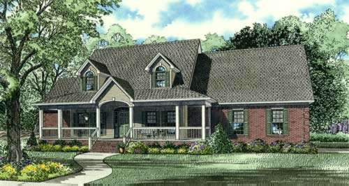 Country Style Home Design Plan: 12-692