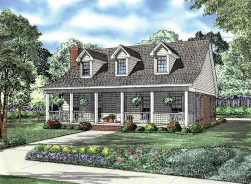 Country Style Floor Plans Plan: 12-696