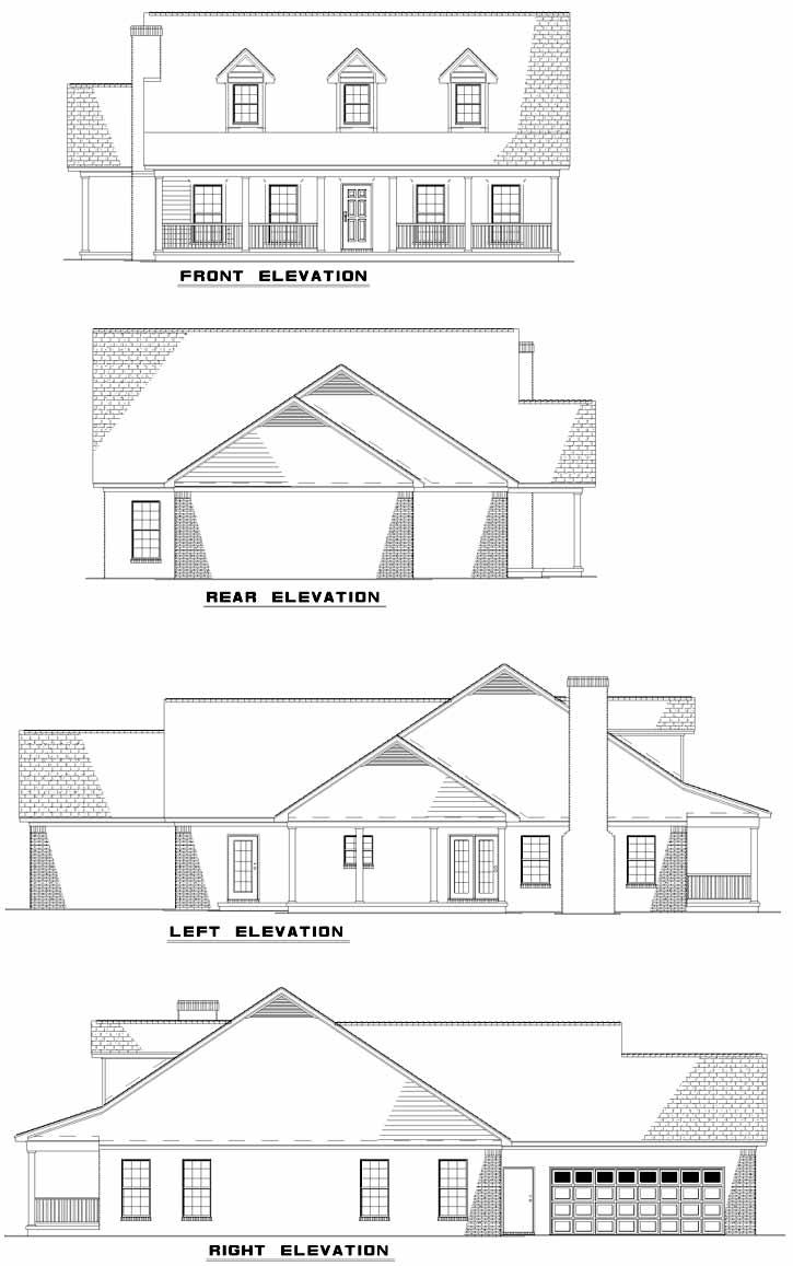 Rear Elevation Plan: 12-696