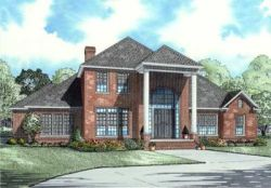 Southern Style Home Design Plan: 12-697