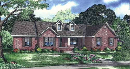 Traditional Style Home Design Plan: 12-698