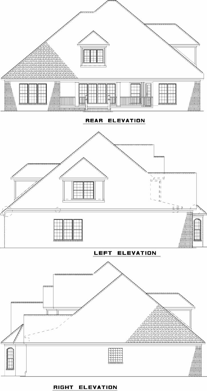 Rear Elevation Plan: 12-700