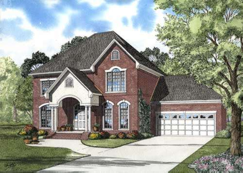 European Style House Plans Plan: 12-705