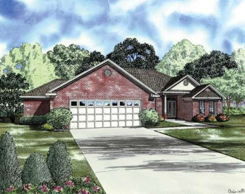 Traditional Style Home Design Plan: 12-715