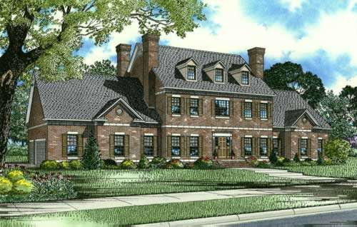 English-country Style Home Design Plan: 12-717