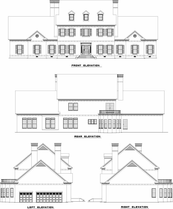 Rear Elevation Plan: 12-717