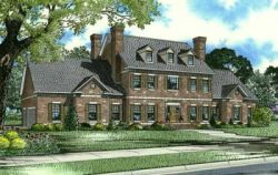English-Country Style Floor Plans Plan: 12-717