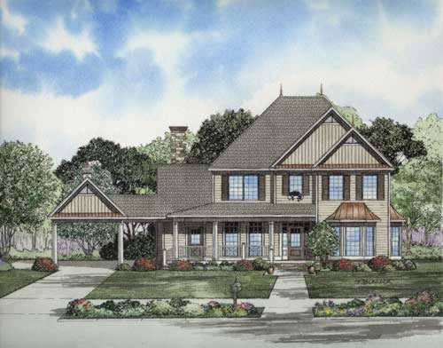 Southern Style Home Design Plan: 12-720