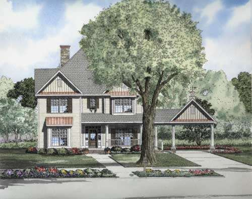 Country Style Home Design Plan: 12-721