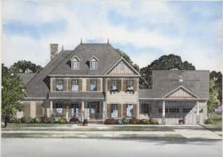 Country Style Home Design Plan: 12-723