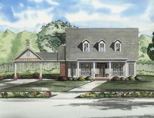 Country Style Home Design Plan: 12-724