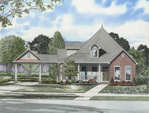 Traditional Style Home Design Plan: 12-725