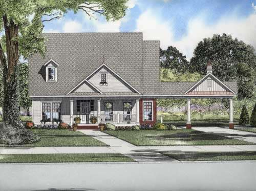 Country Style House Plans Plan: 12-731