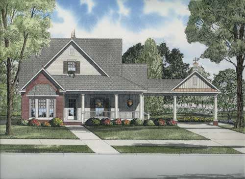 Country Style Floor Plans Plan: 12-732