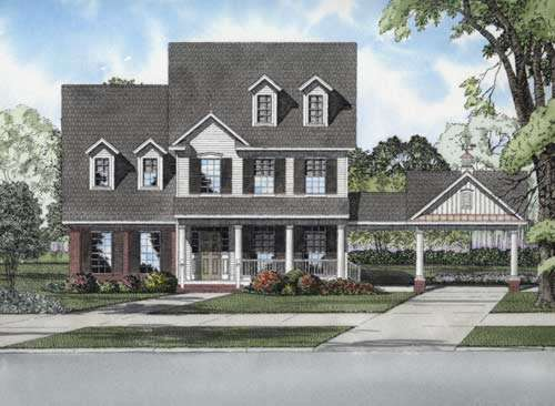 Southern Style Floor Plans Plan: 12-737