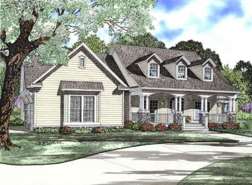 Country Style Home Design Plan: 12-743