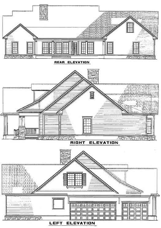 Rear Elevation Plan: 12-743