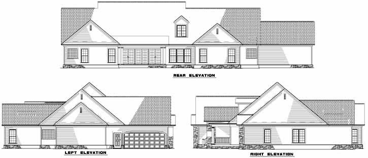 Rear Elevation Plan: 12-745