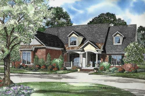 Traditional Style Home Design Plan: 12-746