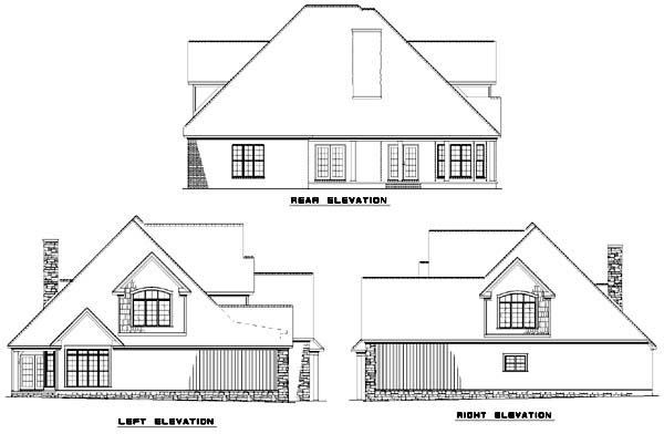 Rear Elevation Plan: 12-747