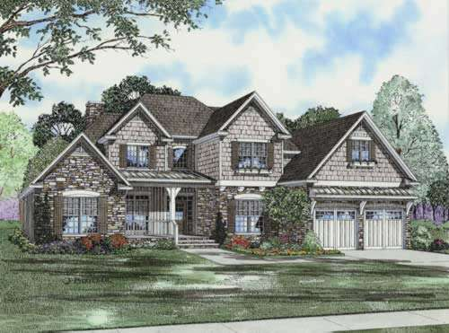 English-country Style House Plans Plan: 12-748