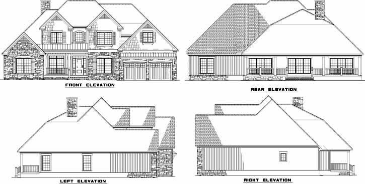 Rear Elevation Plan: 12-748