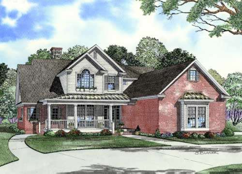 Southern Style Floor Plans Plan: 12-749