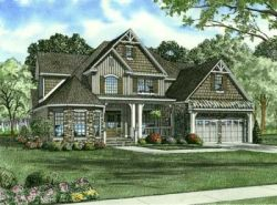 English-Country Style Home Design Plan: 12-750