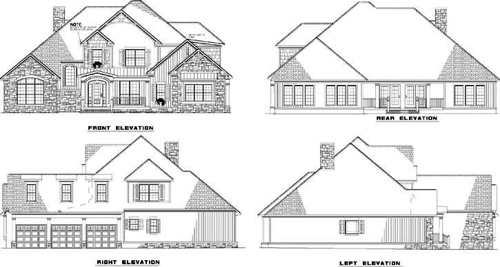 Rear Elevation Plan: 12-752