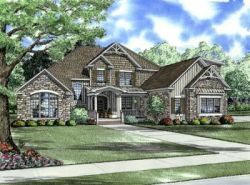English-Country Style Floor Plans Plan: 12-752