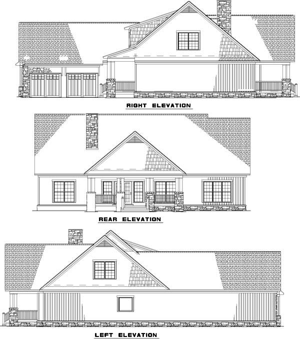 Rear Elevation Plan: 12-753