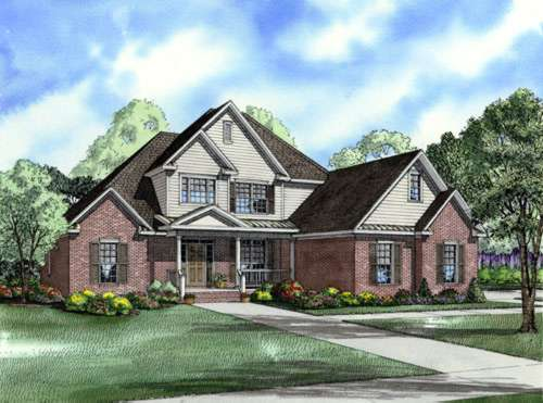 Traditional Style Home Design Plan: 12-754
