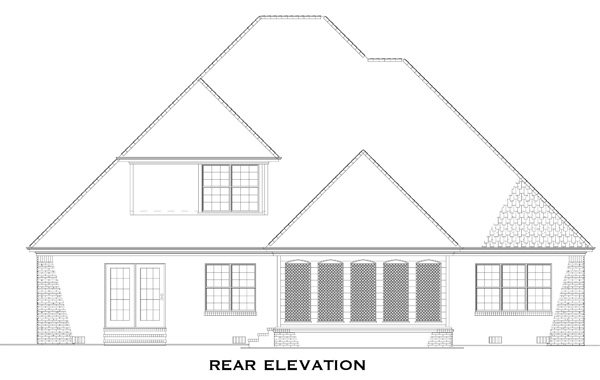 Rear Elevations Plan:12-754