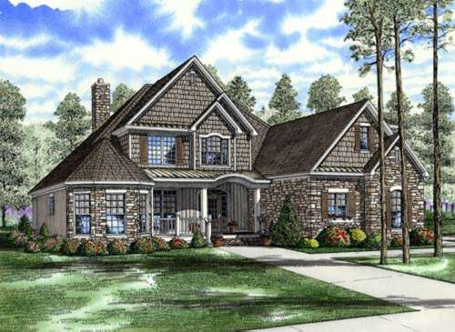 English-country Style Floor Plans Plan: 12-757