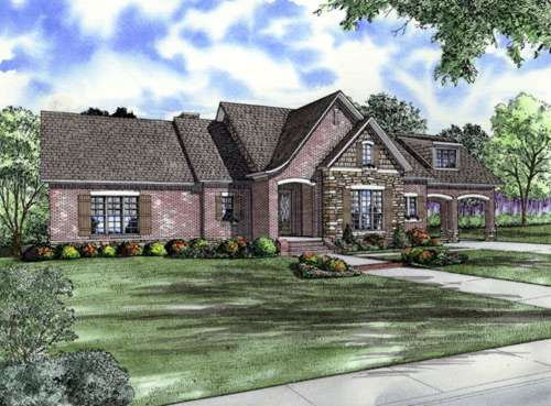 French-country Style House Plans Plan: 12-758