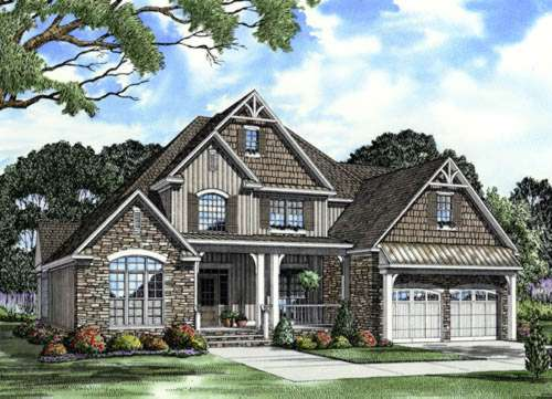 English-country Style House Plans Plan: 12-760