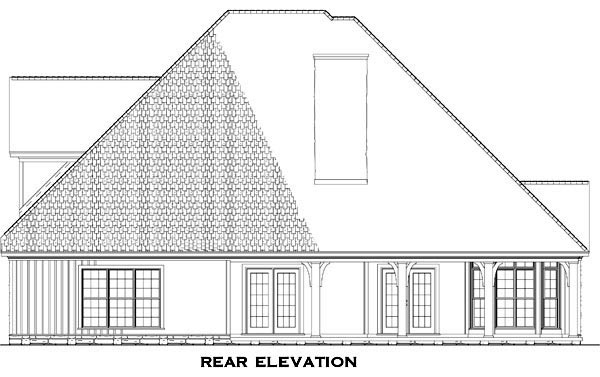 Rear Elevation Plan: 12-760