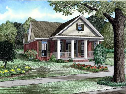 Southern Style Floor Plans Plan: 12-762