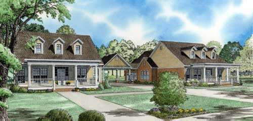Country Style Home Design Plan: 12-767