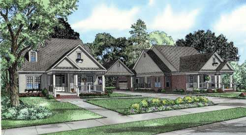 Southern Style Home Design Plan: 12-768
