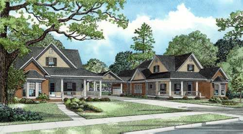 Country Style Floor Plans Plan: 12-769