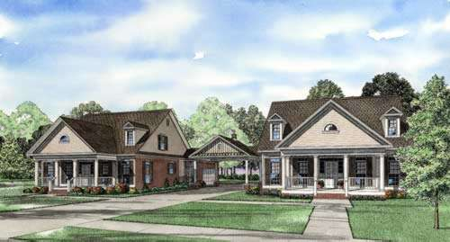 Southern Style Home Design Plan: 12-771