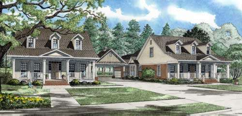 Country Style Floor Plans Plan: 12-772