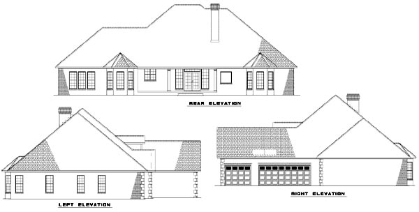 Rear Elevation Plan: 12-774