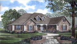 European Style Home Design Plan: 12-774