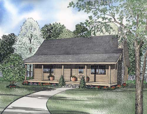 Log-cabin Style Floor Plans 12-775