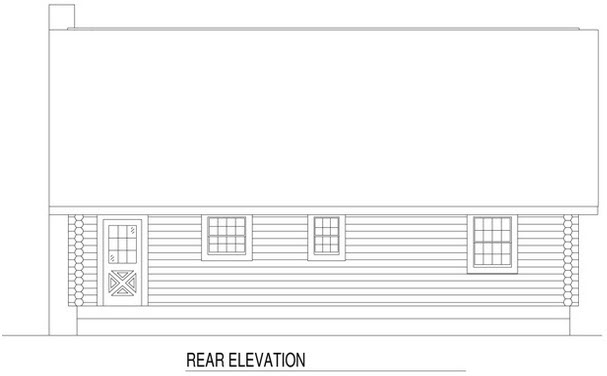 Rear Elevation Plan: 12-775