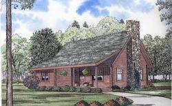 Log-Cabin Style House Plans Plan: 12-776