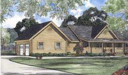 Log-Cabin Style House Plans Plan: 12-777