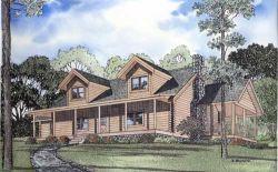 Log-Cabin Style Floor Plans Plan: 12-778